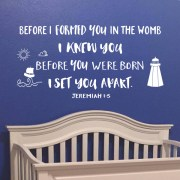 Jeremiah 1v5 Vinyl Wall Decal 24