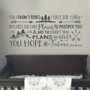 Jeremiah 29v11 Vinyl Wall Decal 1