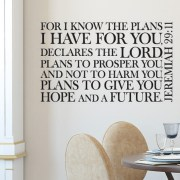 Jeremiah 29v11 Vinyl Wall Decal 8