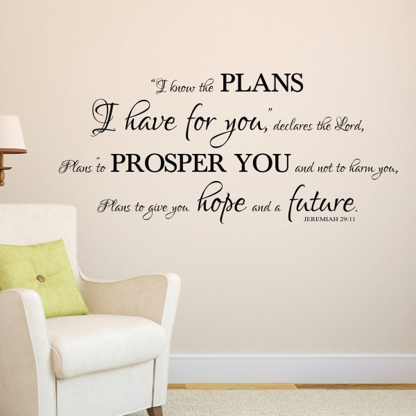 Jeremiah 29v11 Vinyl Wall Decal 26