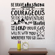 Joshua 1v9 Vinyl Wall Decal 17