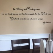 Joshua 1v9 Vinyl Wall Decal 16