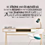 Joshua 1v9 Vinyl Wall Decal 44