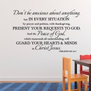 Philippians 4v6-7 Vinyl Wall Decal 2