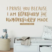 Psalm 139v14 Vinyl Wall Decal 24
