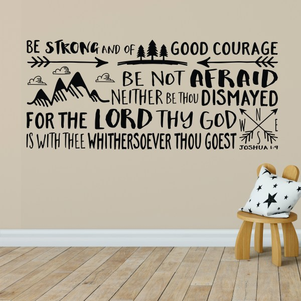 Joshua 1v9 KJV Vinyl Wall Decal 32