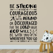 Joshua 1v9 Vinyl Wall Decal 42