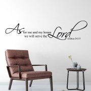 Joshua 24v15 Vinyl Wall Decal 12
