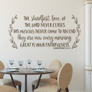 Lamentations 3v22-23 Vinyl Wall Decal 2