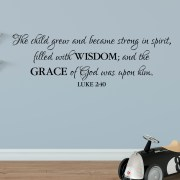 Luke 2v4 Vinyl Wall Decal 5