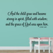 Luke 2v40 Vinyl Wall Decal 10