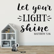 Matthew 5v16 Vinyl Wall Decal 2