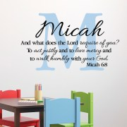 Micah 6v8 Vinyl Wall Decal 3