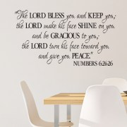 Numbers 6v24-26 Vinyl Wall Decal 2