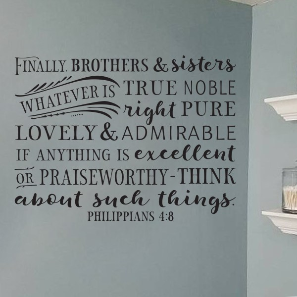 Philippians 4v8 Vinyl Wall Decal 4