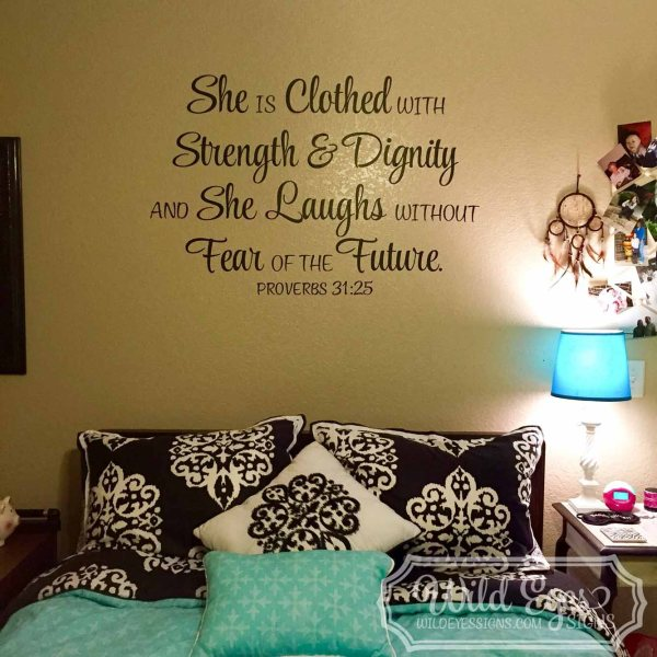 Proverbs 31v25 Vinyl Wall Decal 1