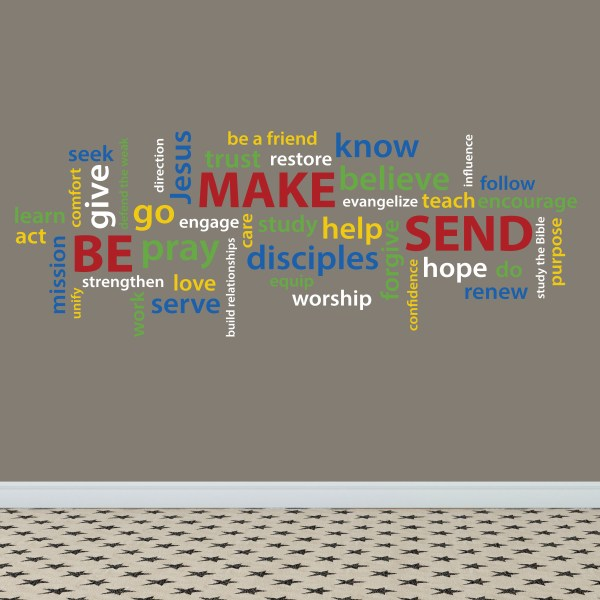 Be Make Send Word Collage Vinyl Wall Decal