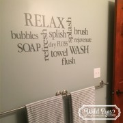 Bathroom Wall Words Collage Vinyl Wall Decal