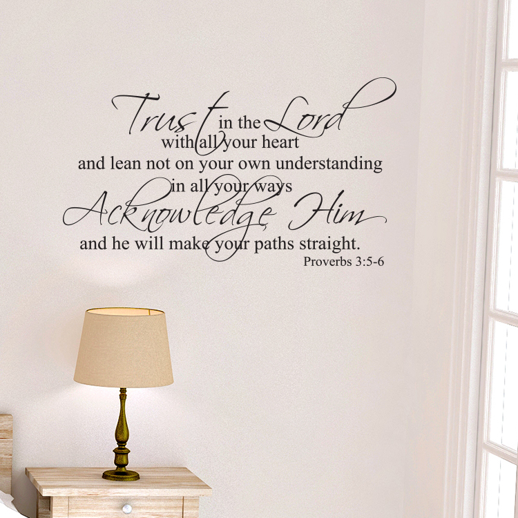 The Lord S Love Wall Decal: Proverbs 3v5-6 Vinyl Wall Decal 7 Trust In The Lord With