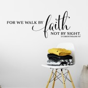 2 Corinthians 5v7 Vinyl Wall Decal