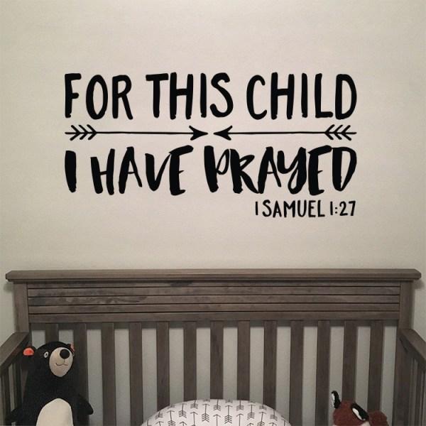 1 Samuel 1v27 Vinyl Wall Decal 32