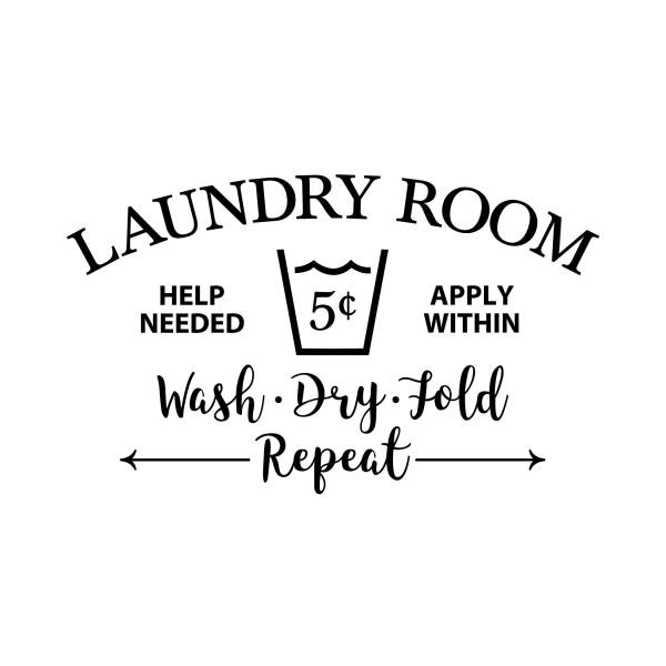 Laundry Room Help Needed Apply Within Vinyl Wall Decal 2