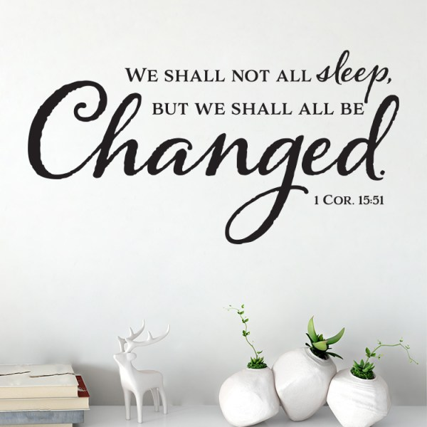 1 Corinthians 15v51 Vinyl Wall Decal