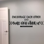 1 Thessalonians 5v11 Vinyl Wall Decal