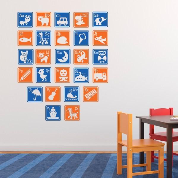 Alphabet Letter Blocks Vinyl Wall Decal