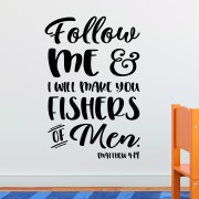 Matthew 4v19 Vinyl Wall Decal 2