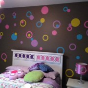 4 Colors Poka Dots Vinyl Wall Decals