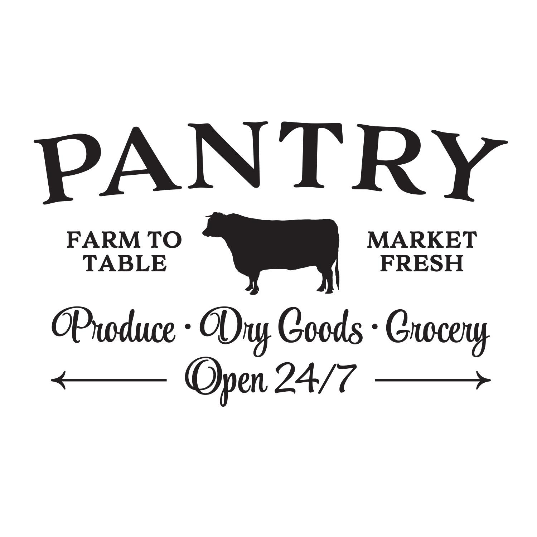 Pantry Farm To Table Market Fresh Vinyl Wall Decal Fresh