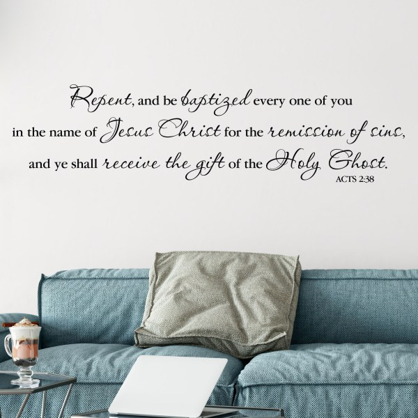 Acts 2v38 Vinyl Wall Decal