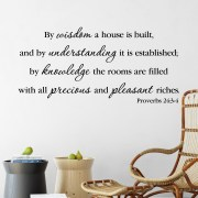 Proverbs 24v3-4 Vinyl Wall Decal