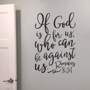Romans 8V31 Vinyl Wall Decal