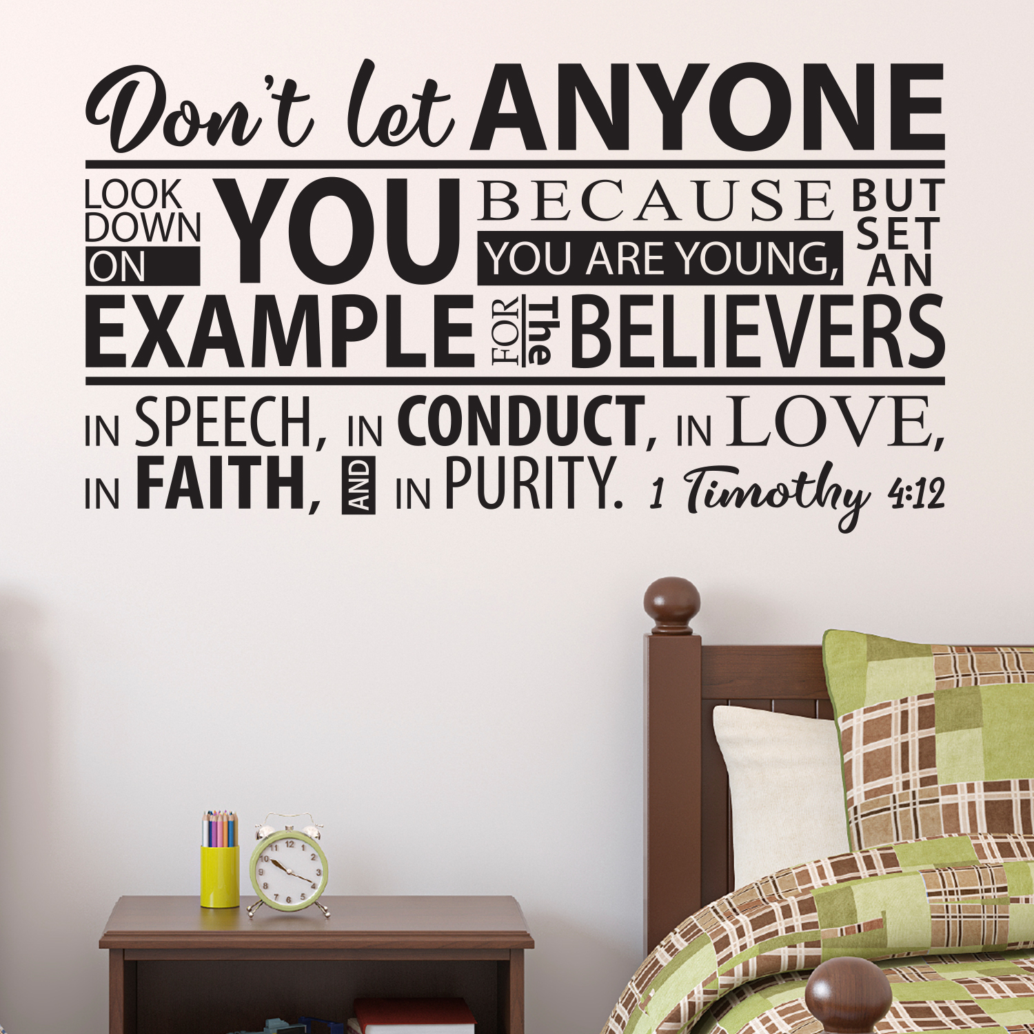 1 Timothy 4v12 Vinyl Wall Decal 15