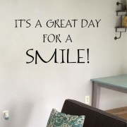 Great Day for a Smile Vinyl Wall Decal