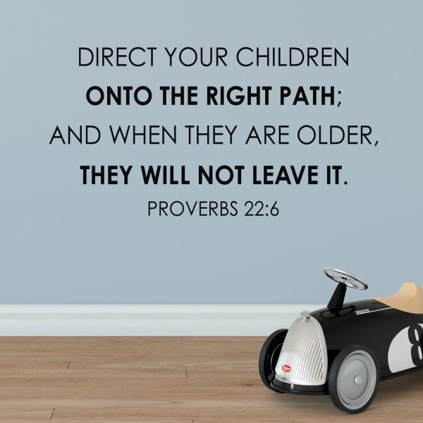 Proverbs 22v6 Vinyl Wall Decal 5