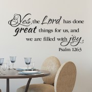 Psalm 126v3 Vinyl Wall Decal 2