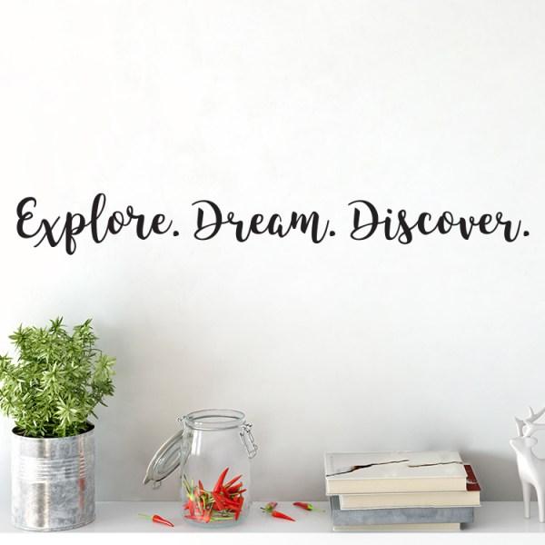 Explore Dream Discover Vinyl Wall Decal
