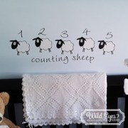 Counting Sheep Vinyl Wall Decal