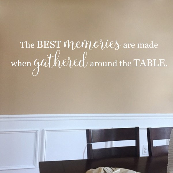 Best Memories are Made When Gathered Around the Table Vinyl Decal