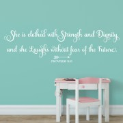 Proverbs 31v25 Vinyl Wall Decal 8