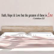 1 Corinthians 13v13 Vinyl Wall Decal 3