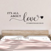 1 Corinthians 13v1-13 Vinyl Wall Decal