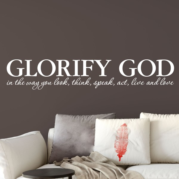 Glorify God Vinyl Wall Decal