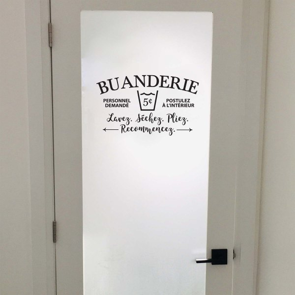 Buanderie Vinyl Wall Decal French