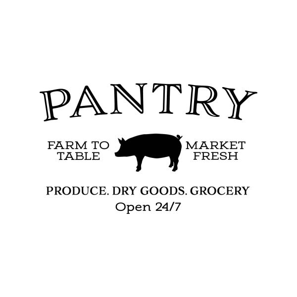 PANTRY PIG FARM TO TABLE Vinyl Wall Decal