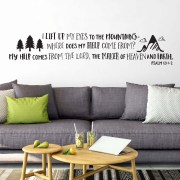 Psalm 121v1-2 Vinyl Wall Decal 2
