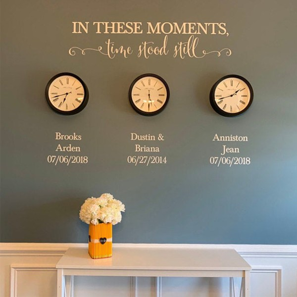 In these moments time stood still Vinyl Wall Decal 3